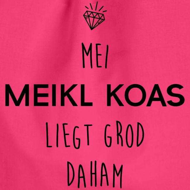 Vorschau: Mei Meikl Koas liegt grod daham - Turnbeutel