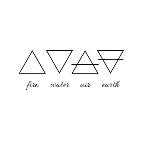 Vier Elemente. - Turnbeutel
