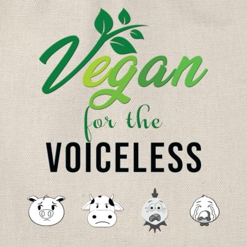 Vegan forthe voiceless Aktivismus Tierschutz Demos - Turnbeutel
