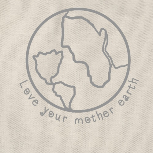 Love your mother earth - Mutter riecht an Blume - Turnbeutel