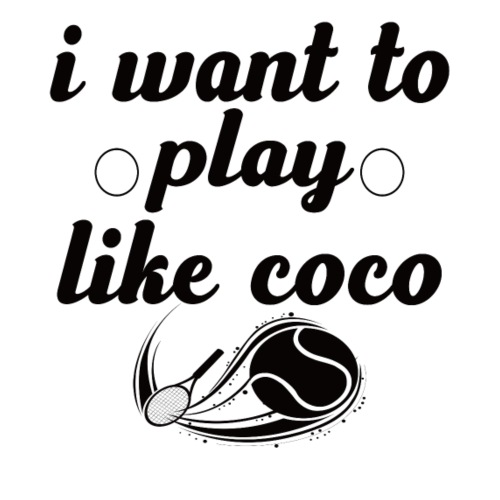 i want like coco tennis t-shirt - Drawstring Bag