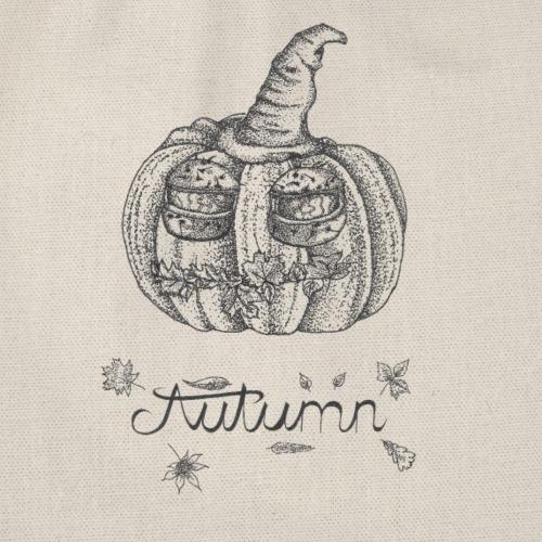 Autumn - herbstlicher Kürbiskopf - Turnbeutel