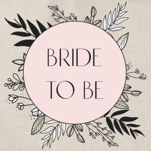 Bride To Be - floral motif - Drawstring Bag