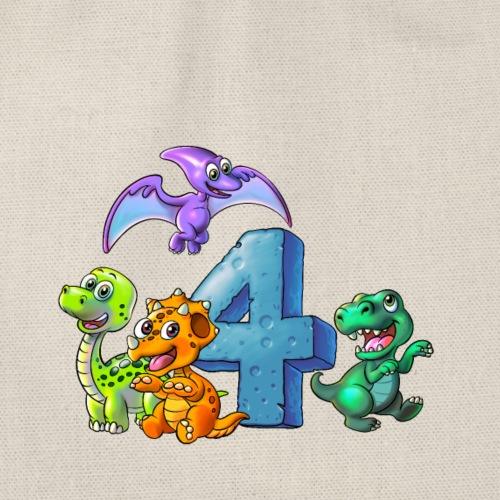 4 Jahre alt Birthday Dinos Dinosaurier - Turnbeutel