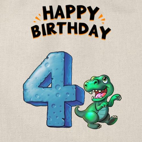 Birthday 4 Rex Geburtstag Dinos - Turnbeutel