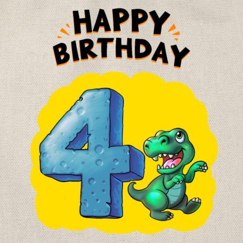 Geburtstag 4 Jahre Tyrannosaurus Rex - Turnbeutel