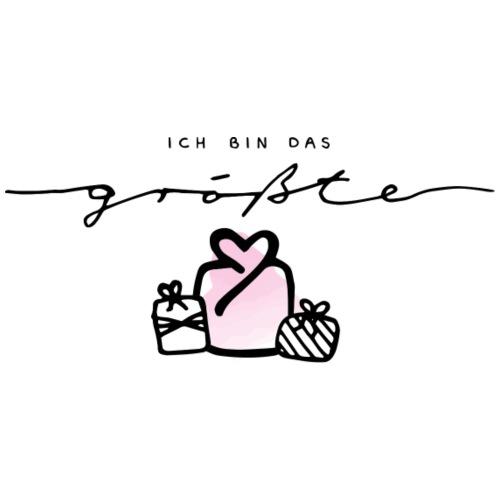 Das größte Geschenk / pink – Baby Kollektion - Turnbeutel