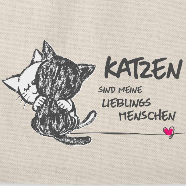 Vorschau: Katzen Lieblingsmenschen - Turnbeutel