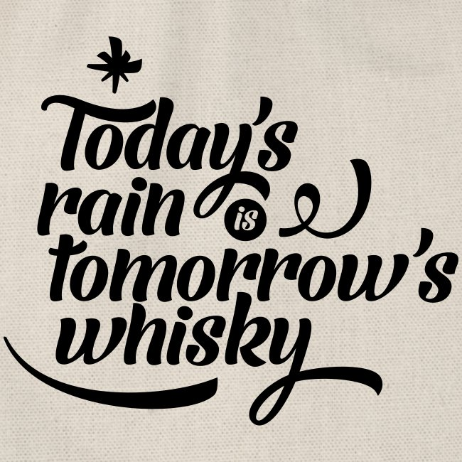 Todays's Rain Women's Tee - Quote to Front