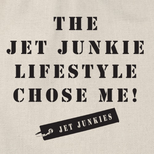 Jet Junkies 'The Jet Junkie Lifestyle Chose Me!' - Drawstring Bag