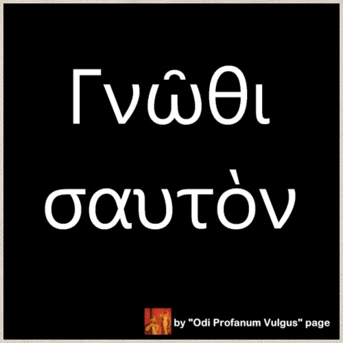 Citazione conosci te stesso - solo greco - Sacca sportiva