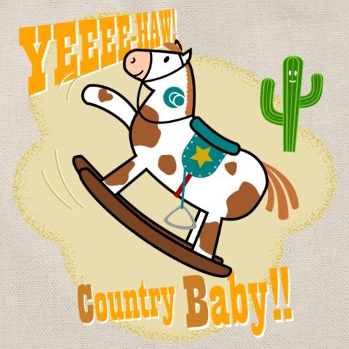 Yee haw. Caballito de madera country con cactus - Mochila saco
