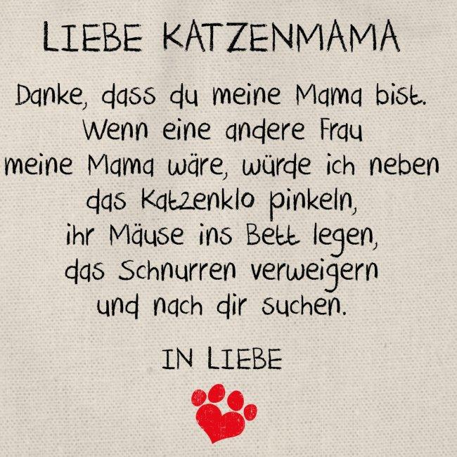 Vorschau: Liebe Katzenmama - Turnbeutel