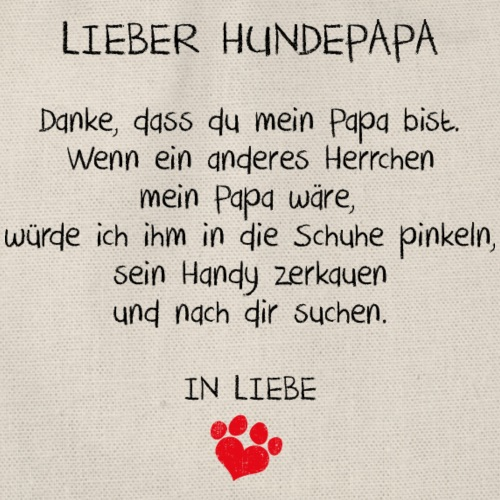 lieber hundepapa - Turnbeutel