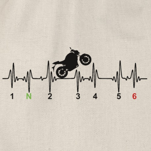 Motorrad im Herz - Turnbeutel