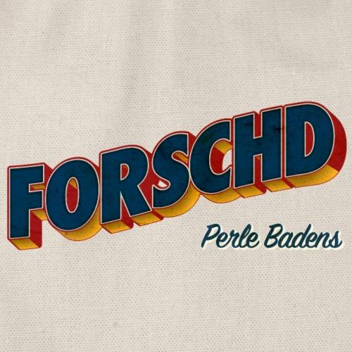 Forschd - Perle Badens - Vintage Logo ohne Bild - Turnbeutel