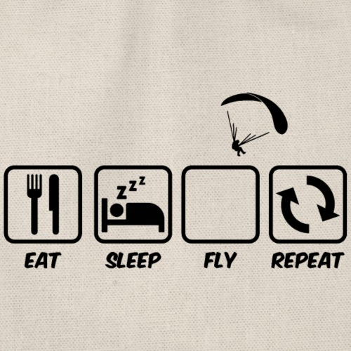 Eat Sleep Fly Repeat - Turnbeutel