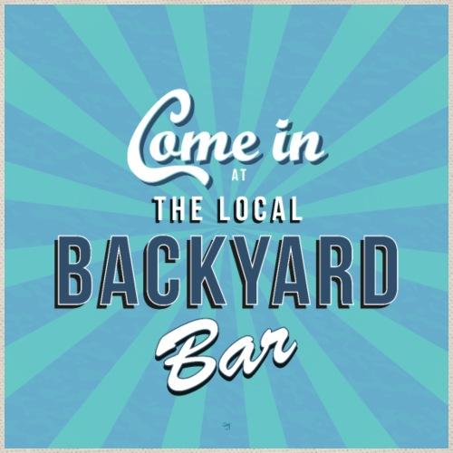 Backyard bar bord / poster. blauw groen - Gymtas