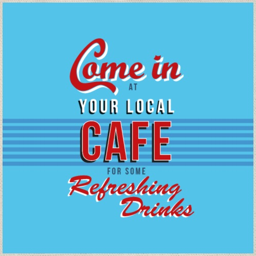 Cafe refreshing drinks bord / poster - Gymtas