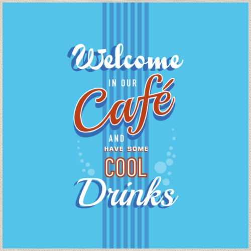 Cafe cool drinks retro bord - Gymtas