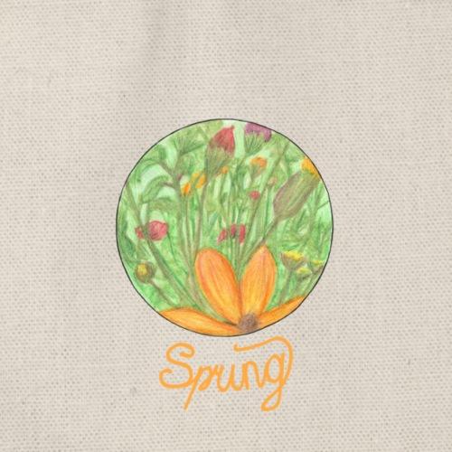Spring - Blumenwiese im Frühling - Turnbeutel