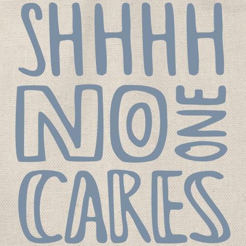 no one cares - Turnbeutel