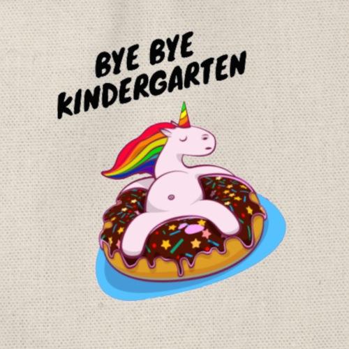 Bye Bye Kindergarten Einhorn - Turnbeutel