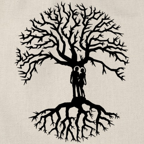 couple arbre de vie zen amour Tree of life noir - Sac de sport léger