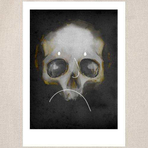 fine art skull2 - Gymnastikpåse