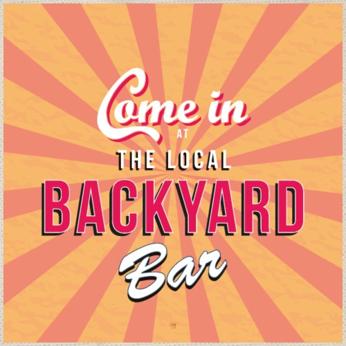 Backyard bar bord / poster - Gymtas