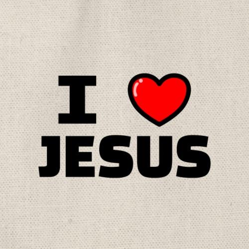 I love Jesus - Turnbeutel