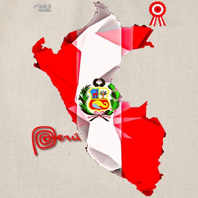 Mapa del Peru, Bandera und Escarapela