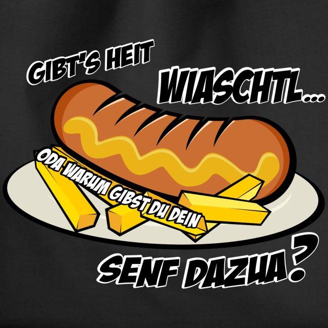 Vorschau: Wiaschtl mit Senf - Turnbeutel
