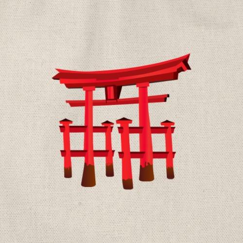 Japanisches Tor, Torii/ Schrein Motiv T-Shirt - Turnbeutel