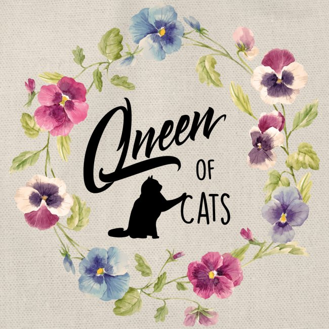 Vorschau: queen of cats - Turnbeutel