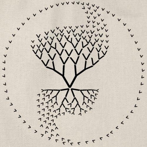 arbre de vie yin yang qi avec une seule lettre V - Sac de sport léger