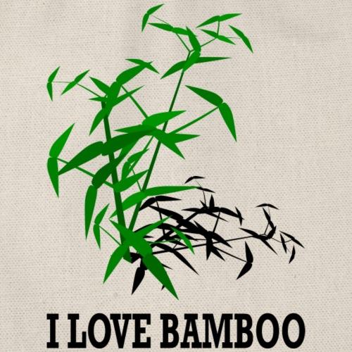 Bambou, ombre noire, I love bamboo - Sac de sport léger