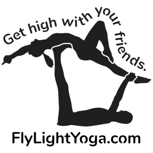 AcroYoga: Get high with your friends - Drawstring Bag