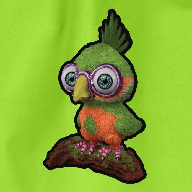 A bird sitting on a branch