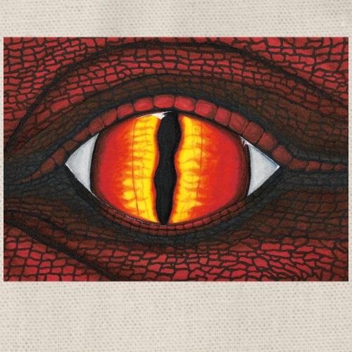 rotes Drachenauge - Turnbeutel
