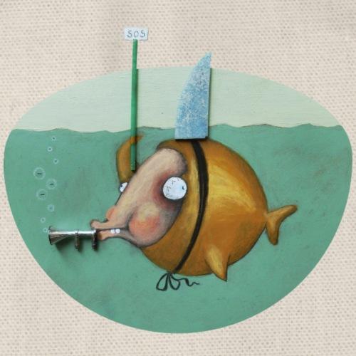 Fish S.O.S. - Turnbeutel