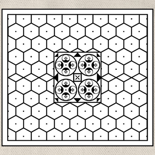 Baia - Mosaico romano - Sacca sportiva
