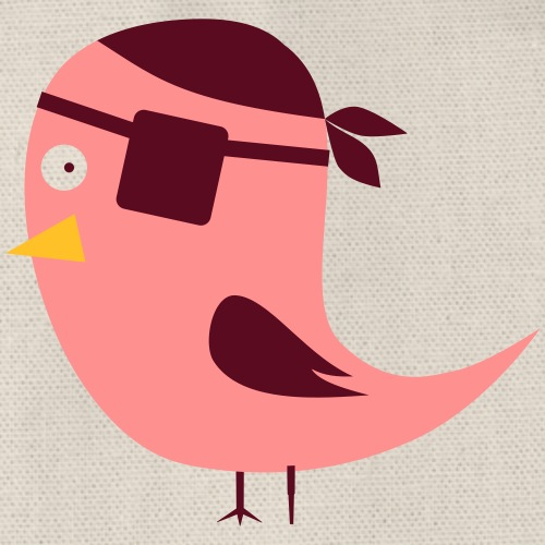 Birdy Pirate - Drawstring Bag
