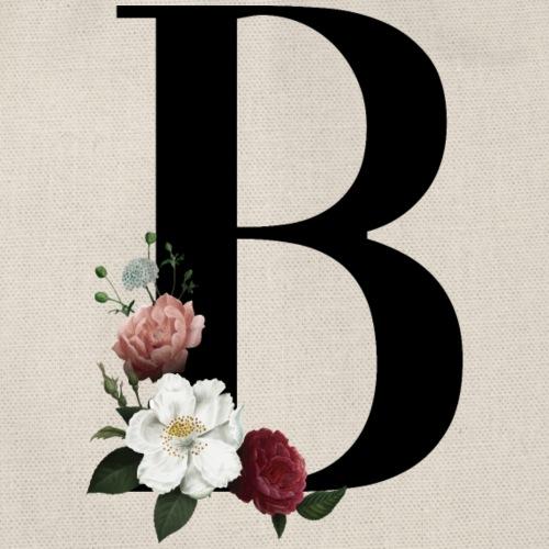 Inicial B con estampado floral