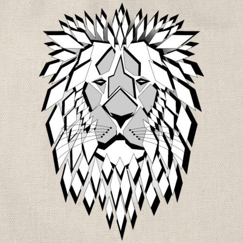 lion losanges fier sauvage né pour être libre - Sac de sport léger