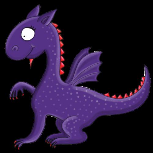 Violetter kleiner Drache mit Flügeln - Turnbeutel