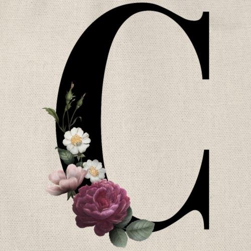 Inicial con C estampado floral