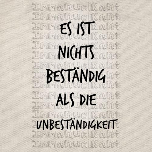 Beständig Immanuel Kant Zitat Spruch Geschenk Idee - Turnbeutel