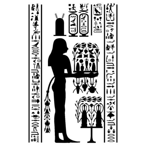 Ägyptische Hierogylphen - Turnbeutel