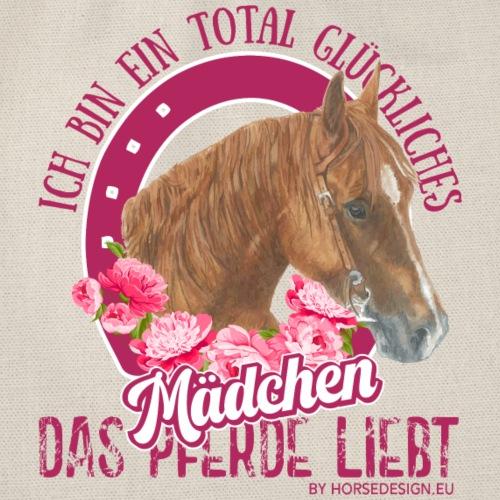 Glückliches Pferdemädchen - Turnbeutel